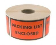 Varningsetikett - Packing List Enclosed